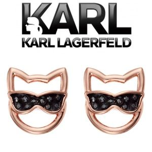 Karl Lagerfeld Choupette Sunglasses Stud Earrings